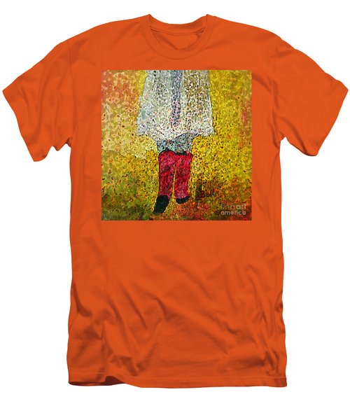 Red Rubber Boots Men's T-Shirt (Athletic Fit)