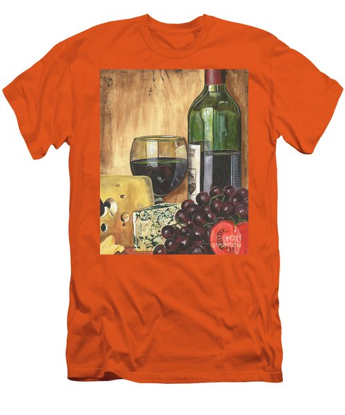 Red Wine And Cheese Men's T-Shirt (Athletic Fit)