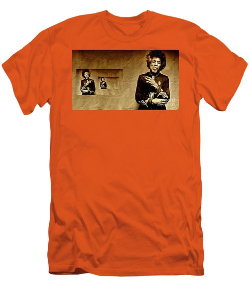 Reflecting On Jimi Hendrix  Men's T-Shirt (Athletic Fit)