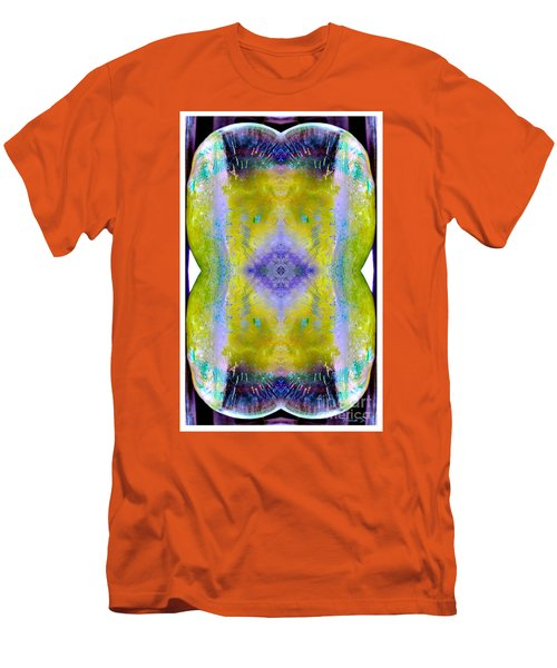 Men's T-Shirt (Slim Fit) featuring the photograph Reflections In Ice by Nina Silver