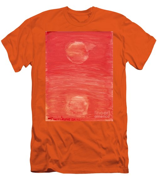 Men's T-Shirt (Slim Fit) featuring the painting Reflections Of Pain by Tracey Williams