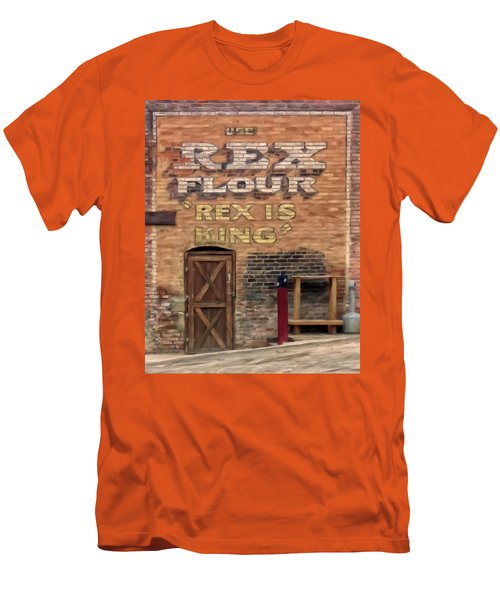 Men's T-Shirt (Slim Fit) featuring the painting Rex Is King by Michael Pickett