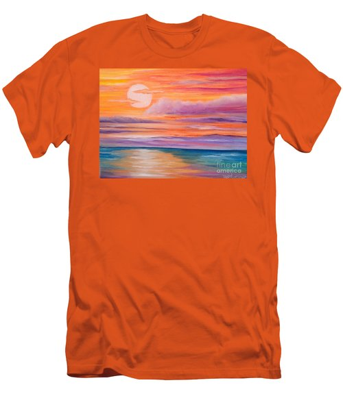 Ribbons In The Sky Men's T-Shirt (Slim Fit) by Holly Martinson