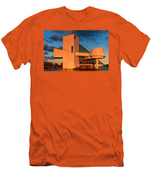 Men's T-Shirt (Slim Fit) featuring the photograph Rock And Roll Hall Of Fame by Jerry Fornarotto
