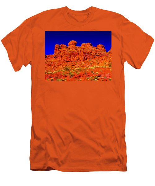 Men's T-Shirt (Slim Fit) featuring the photograph Rocky Outcrop by Mark Blauhoefer