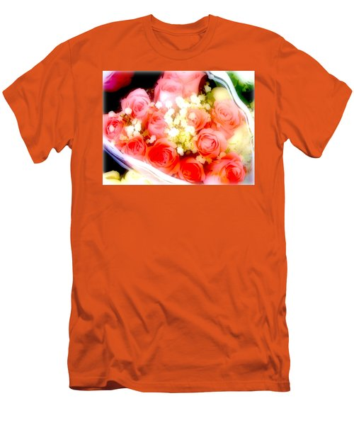Men's T-Shirt (Slim Fit) featuring the photograph Roses Are Red. by Ira Shander