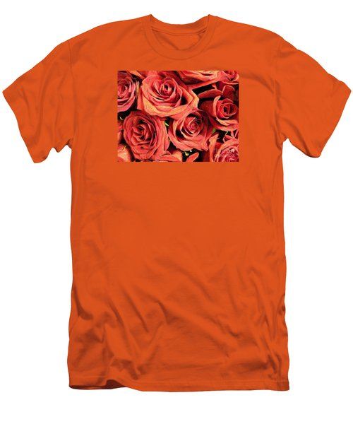 Roses For Your Wall  Men's T-Shirt (Slim Fit) by Joseph Baril