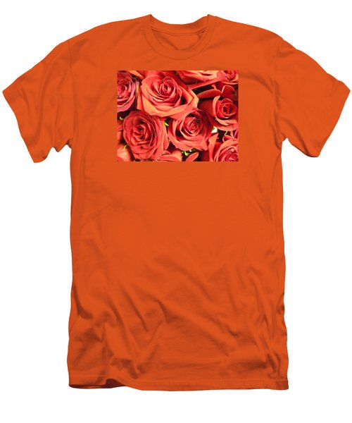 Men's T-Shirt (Slim Fit) featuring the photograph Roses On Your Wall by Joseph Baril