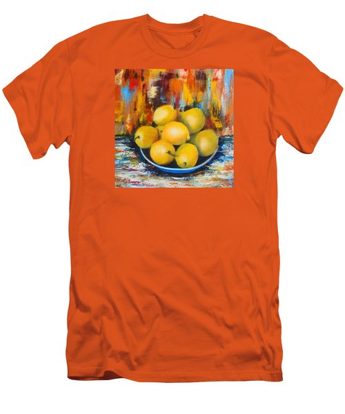 Men's T-Shirt (Slim Fit) featuring the painting Rosie's Harvest by Roseann Gilmore