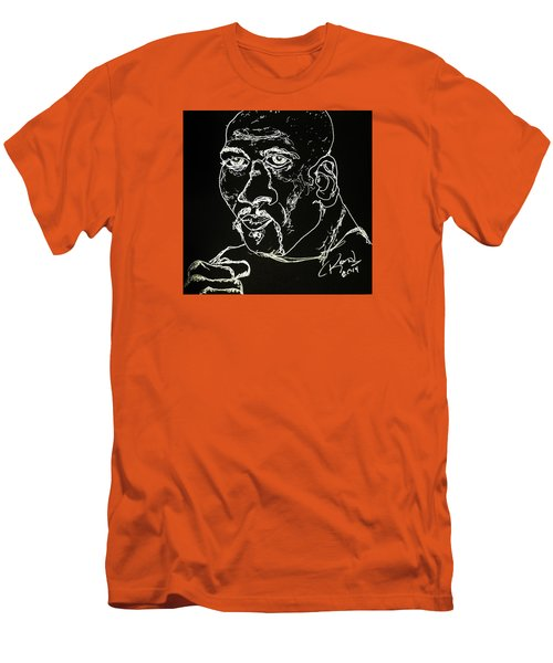 Men's T-Shirt (Slim Fit) featuring the drawing Rubin Hurricane Carter by Rand Swift