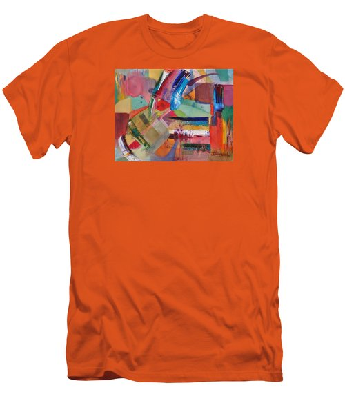 Men's T-Shirt (Slim Fit) featuring the painting Rugged Strokes by Jason Williamson