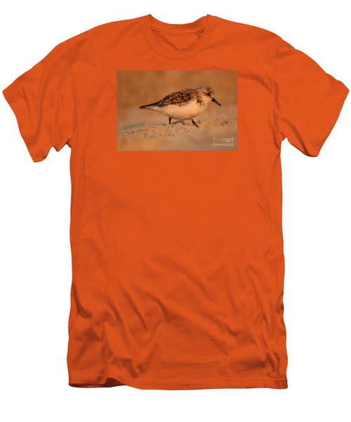 Men's T-Shirt (Slim Fit) featuring the photograph Sanderling Sunrise by John F Tsumas
