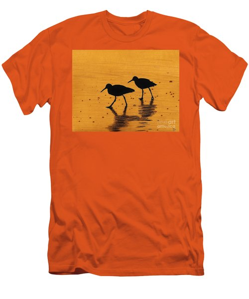 Sandpipers - At - Sunrise Men's T-Shirt (Slim Fit) by D Hackett
