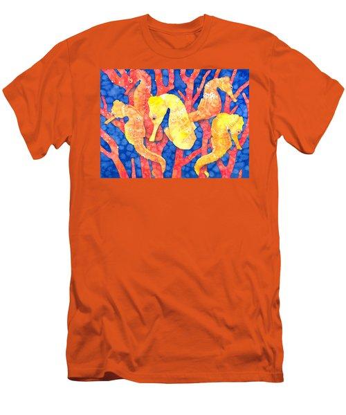 Seahorse Heaven Men's T-Shirt (Athletic Fit)