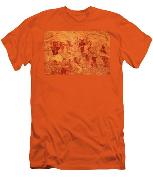 Sego Canyon Rock Art Men's T-Shirt (Athletic Fit)