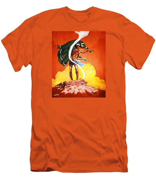 Men's T-Shirt (Slim Fit) featuring the painting Signal From The Mesa by Al Brown