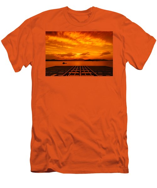 Skies Ablaze - One Men's T-Shirt (Athletic Fit)