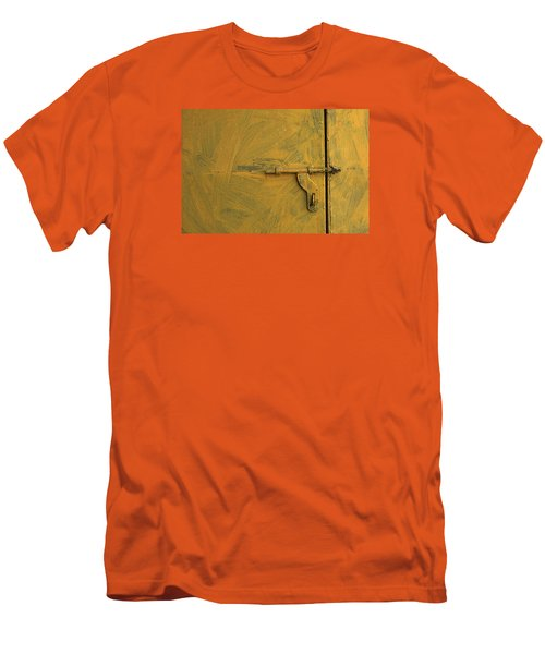 Men's T-Shirt (Slim Fit) featuring the photograph Skc 0047 The Door Latch by Sunil Kapadia