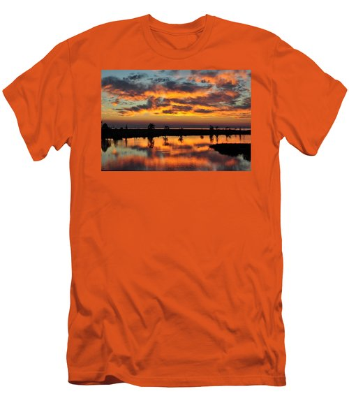 Sky Writing Men's T-Shirt (Athletic Fit)