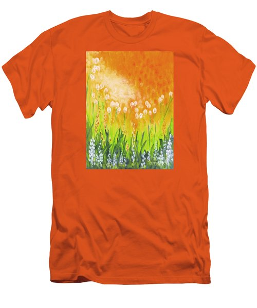 Men's T-Shirt (Slim Fit) featuring the painting Sonbreak by Holly Carmichael