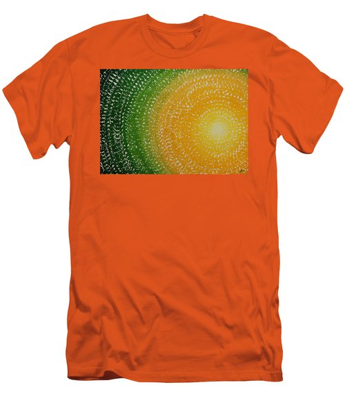 Spring Sun Original Painting Men's T-Shirt (Athletic Fit)