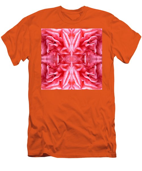 Men's T-Shirt (Slim Fit) featuring the photograph Square Petals Abstract Art Photo by Marianne Dow