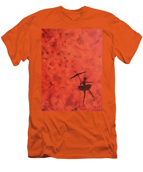 Stencil Ballerina Men's T-Shirt (Athletic Fit)