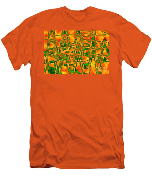 Men's T-Shirt (Slim Fit) featuring the photograph Strange Hieroglyphs by Mark Blauhoefer
