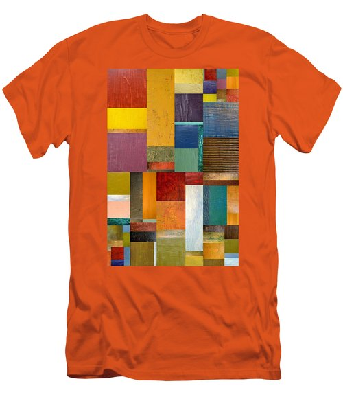 Strips And Pieces Ll Men's T-Shirt (Athletic Fit)