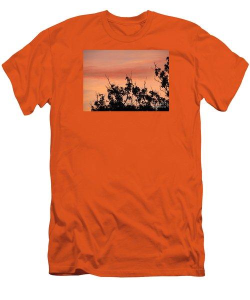 Sun Up Silhouette Men's T-Shirt (Slim Fit) by Joy Hardee