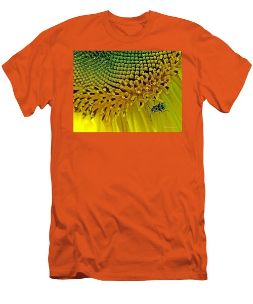 Sunflower And Beetle Men's T-Shirt (Athletic Fit)