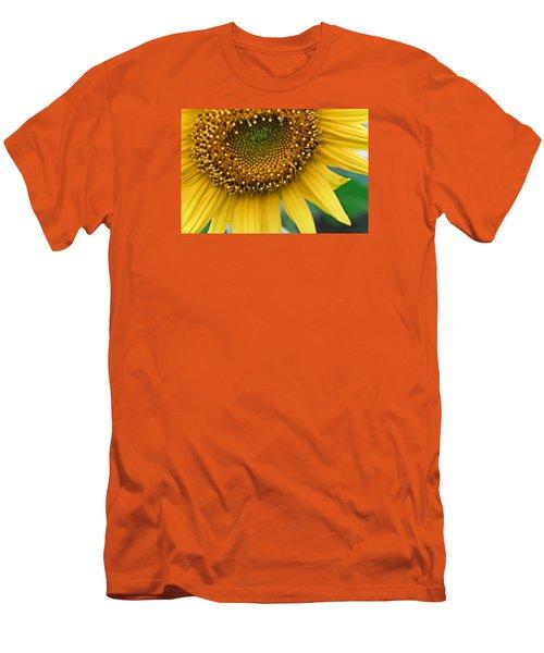 Sunflower Smiles Men's T-Shirt (Slim Fit) by Julie Andel