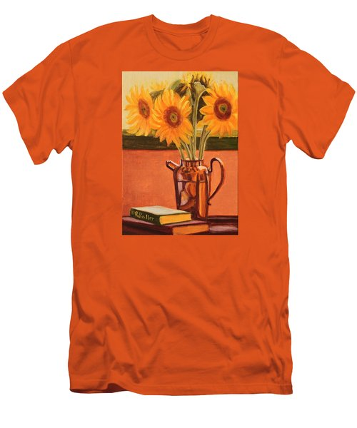 Sunflower Still Life Men's T-Shirt (Athletic Fit)