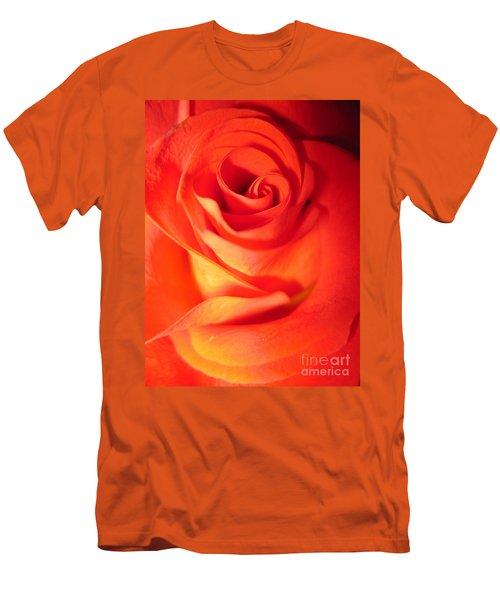 Sunkissed Orange Rose 10 Men's T-Shirt (Athletic Fit)