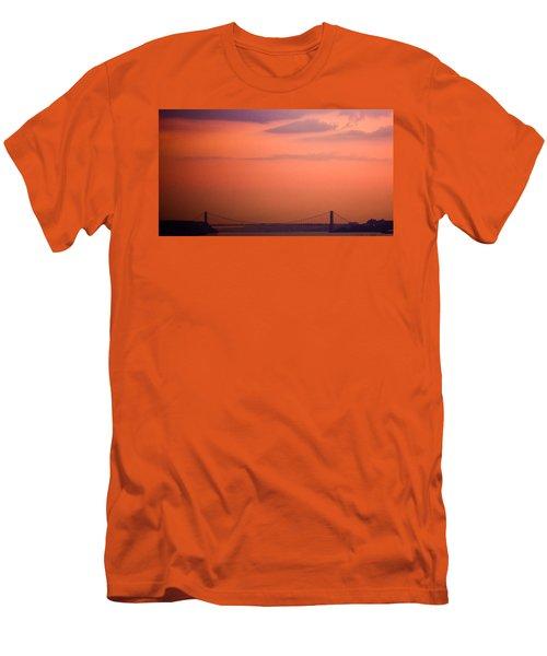 Sunrise In New York Men's T-Shirt (Slim Fit) by Sara Frank