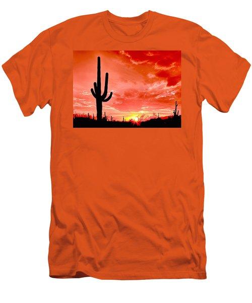 Sunrise Saguaro National Park Men's T-Shirt (Athletic Fit)