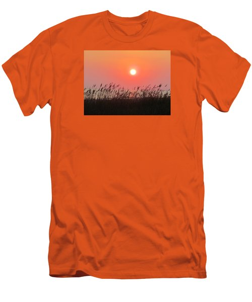 Men's T-Shirt (Slim Fit) featuring the photograph Sunset At The Beach by Cynthia Guinn