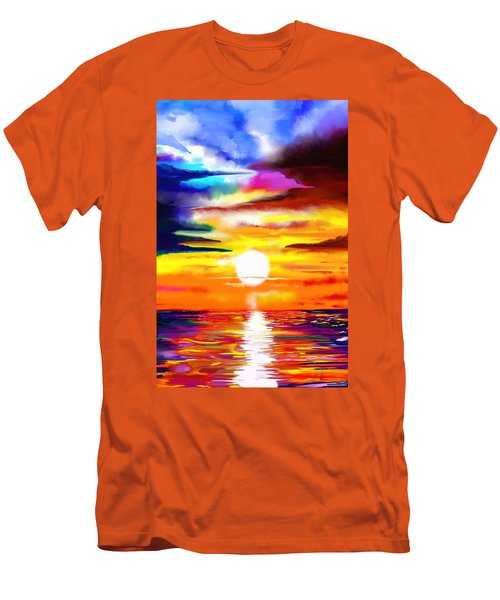 Sunset Explosion Men's T-Shirt (Athletic Fit)