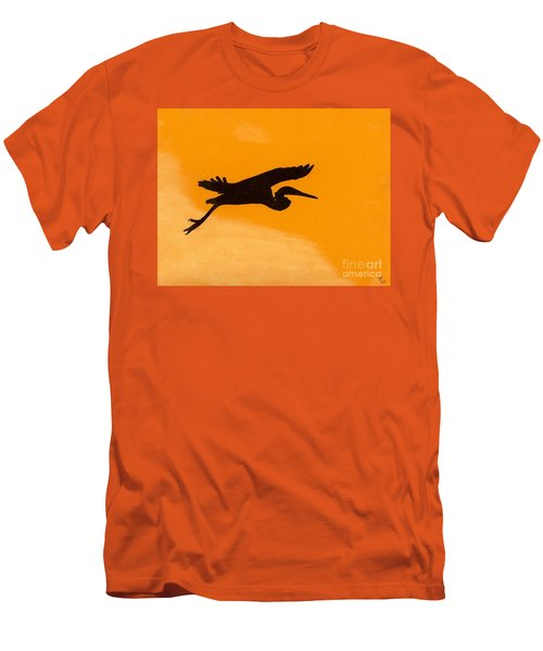 Men's T-Shirt (Slim Fit) featuring the drawing Sunset Flight by D Hackett