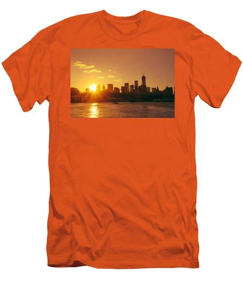 Sunset - New York City Men's T-Shirt (Athletic Fit)