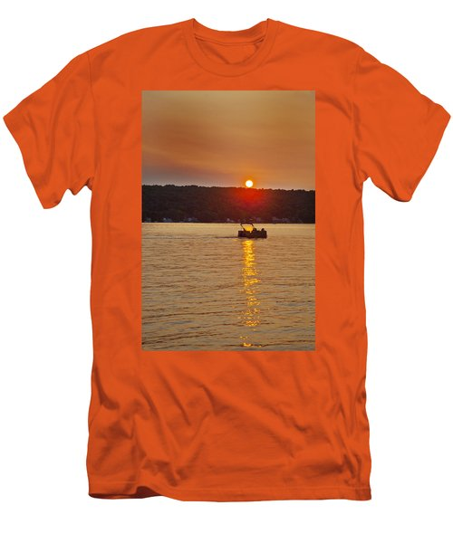 Boating Into The Sunset Men's T-Shirt (Slim Fit) by Richard Engelbrecht