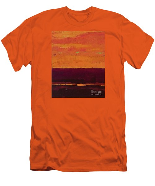 Sunset On The Pier Men's T-Shirt (Slim Fit) by Gail Kent