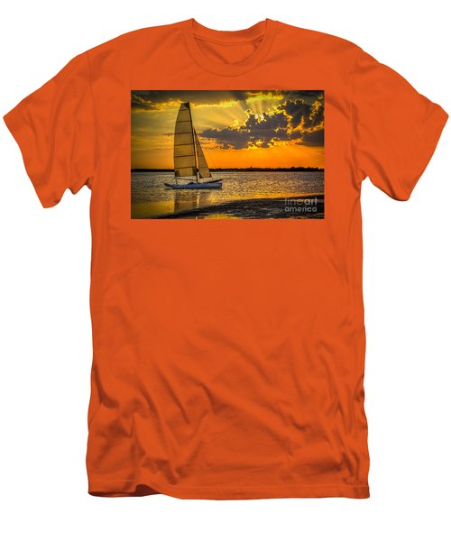 Sunset Sail Men's T-Shirt (Slim Fit) by Marvin Spates