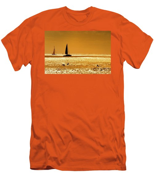 Surfers And Sailboats Men's T-Shirt (Slim Fit) by Kristine Merc