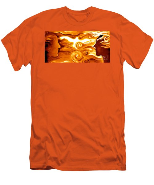 Synergy In Love Men's T-Shirt (Slim Fit) by Gem S Visionary