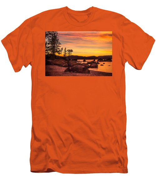 Men's T-Shirt (Slim Fit) featuring the photograph Tahoe Golden Sunset by Steven Bateson