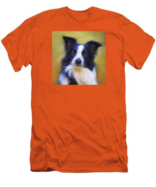 Beautiful Border Collie Portrait Men's T-Shirt (Athletic Fit)