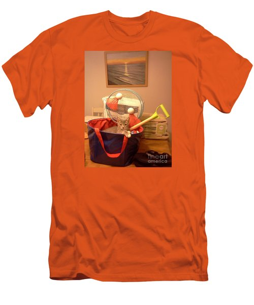Take Me To The Beach Men's T-Shirt (Slim Fit) by Stacy C Bottoms