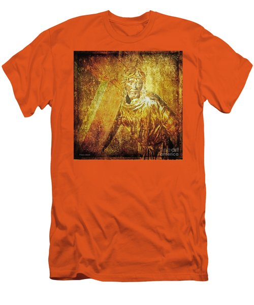 Takes Up The Cross  Via Dolorosa 2 Men's T-Shirt (Athletic Fit)