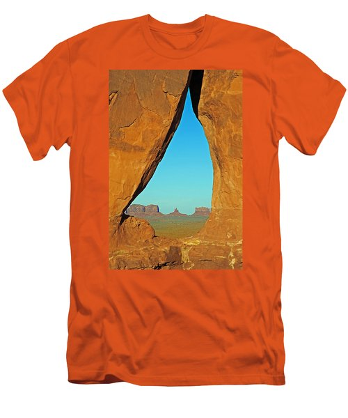 Tear Drop Arch Monument Valley Men's T-Shirt (Slim Fit) by Jeff Brunton